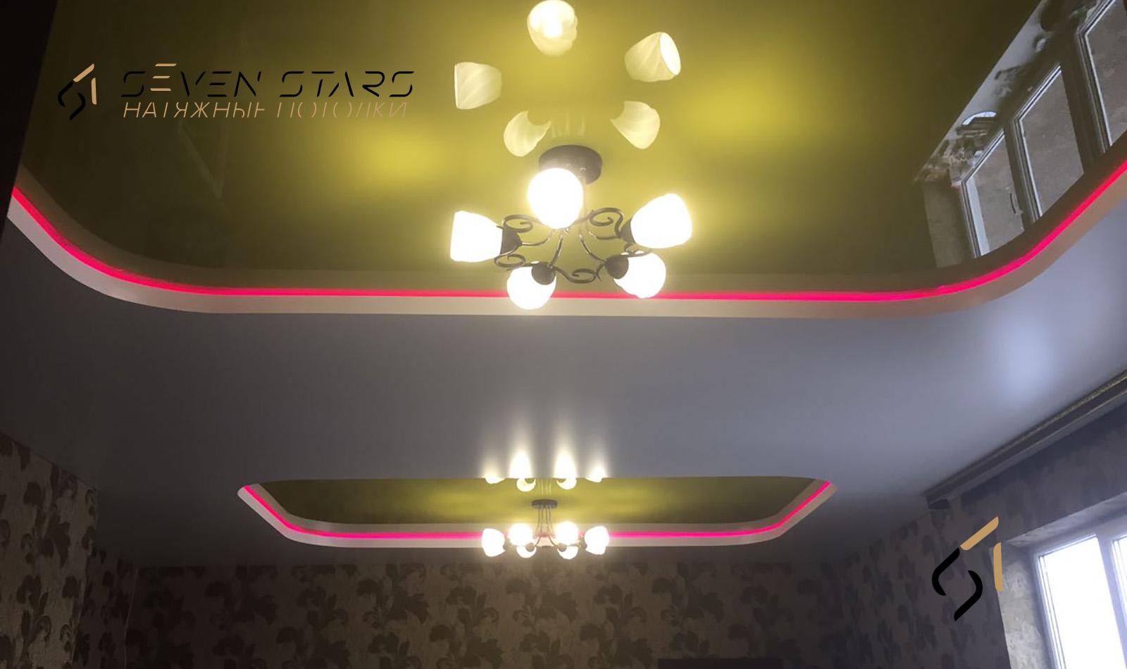 Галерея двухуровневых потолков 7