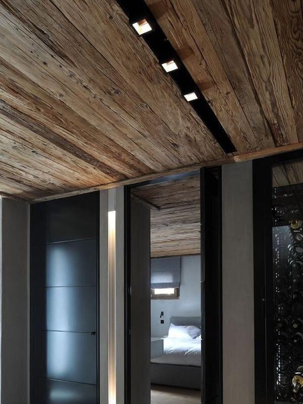 Натяжные потолки в стиле лофт 9