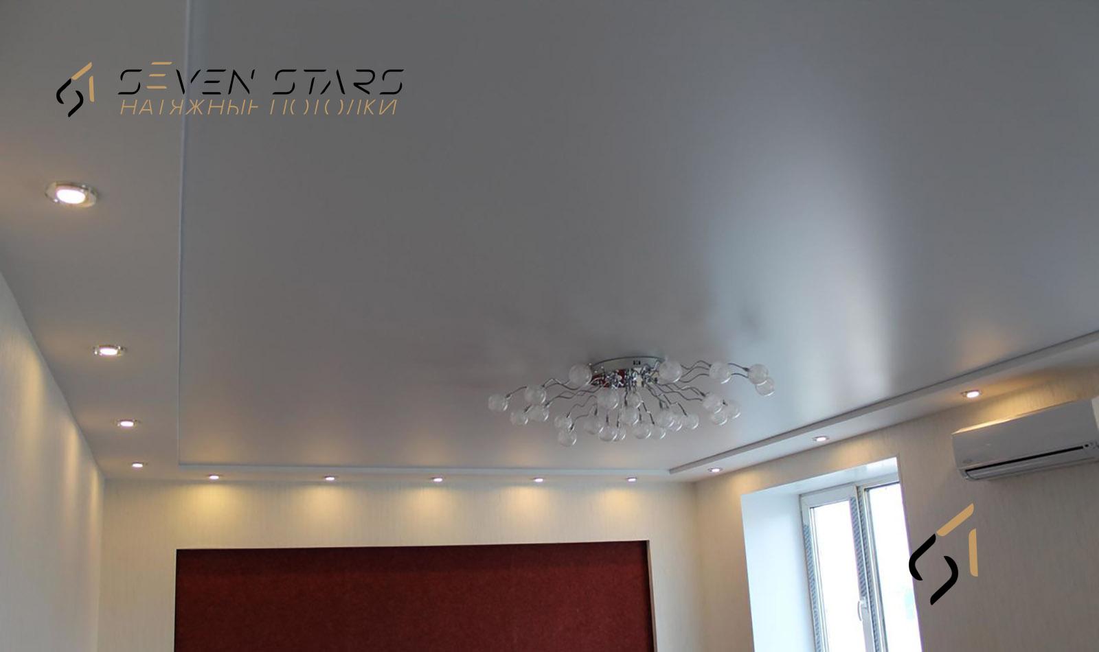 Глянцевые, матовые, сатиновые потолки 10