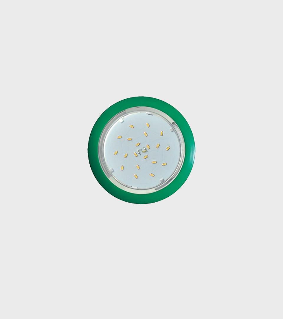 Ecola GX53 5355 Встраиваемый легкий зеленый светильник 25×106 1
