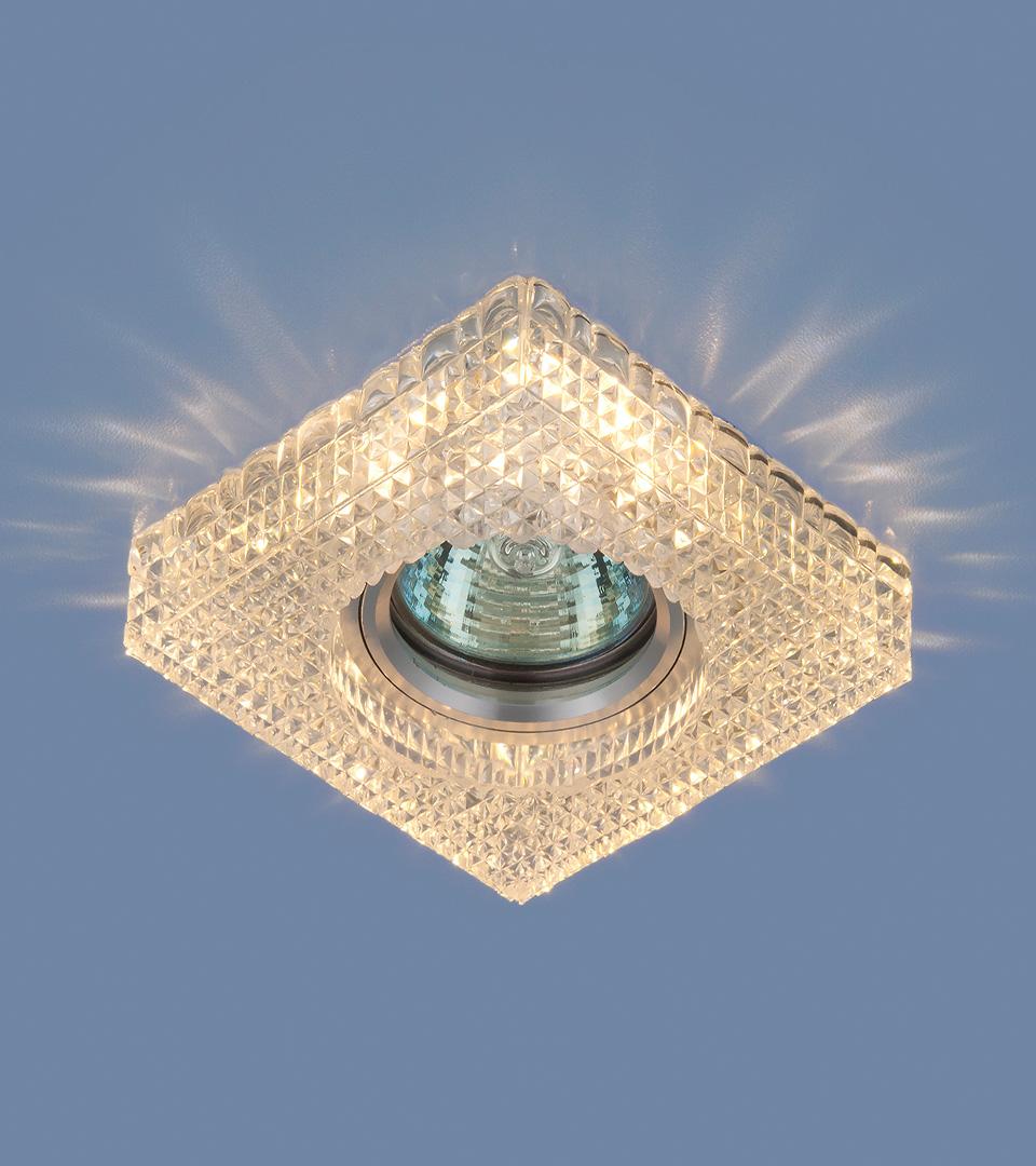 Точечный светильник с LED подсветкой 2214 MR16 CL прозрачный 1