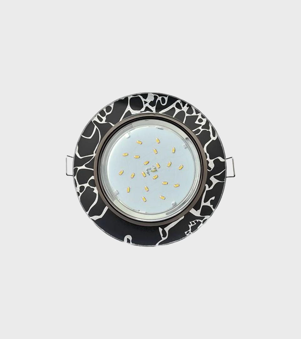 Ecola GX53 H4 5310 Glass Стекло круг черный хром 38×126 1