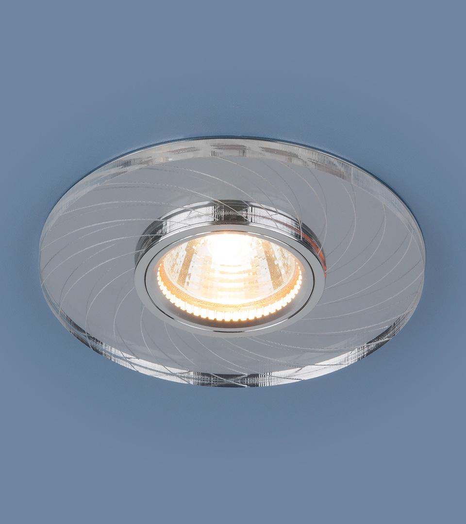 Встраиваемый точечный светильник с LED подсветкой 2203 MR16 CL прозрачный 2