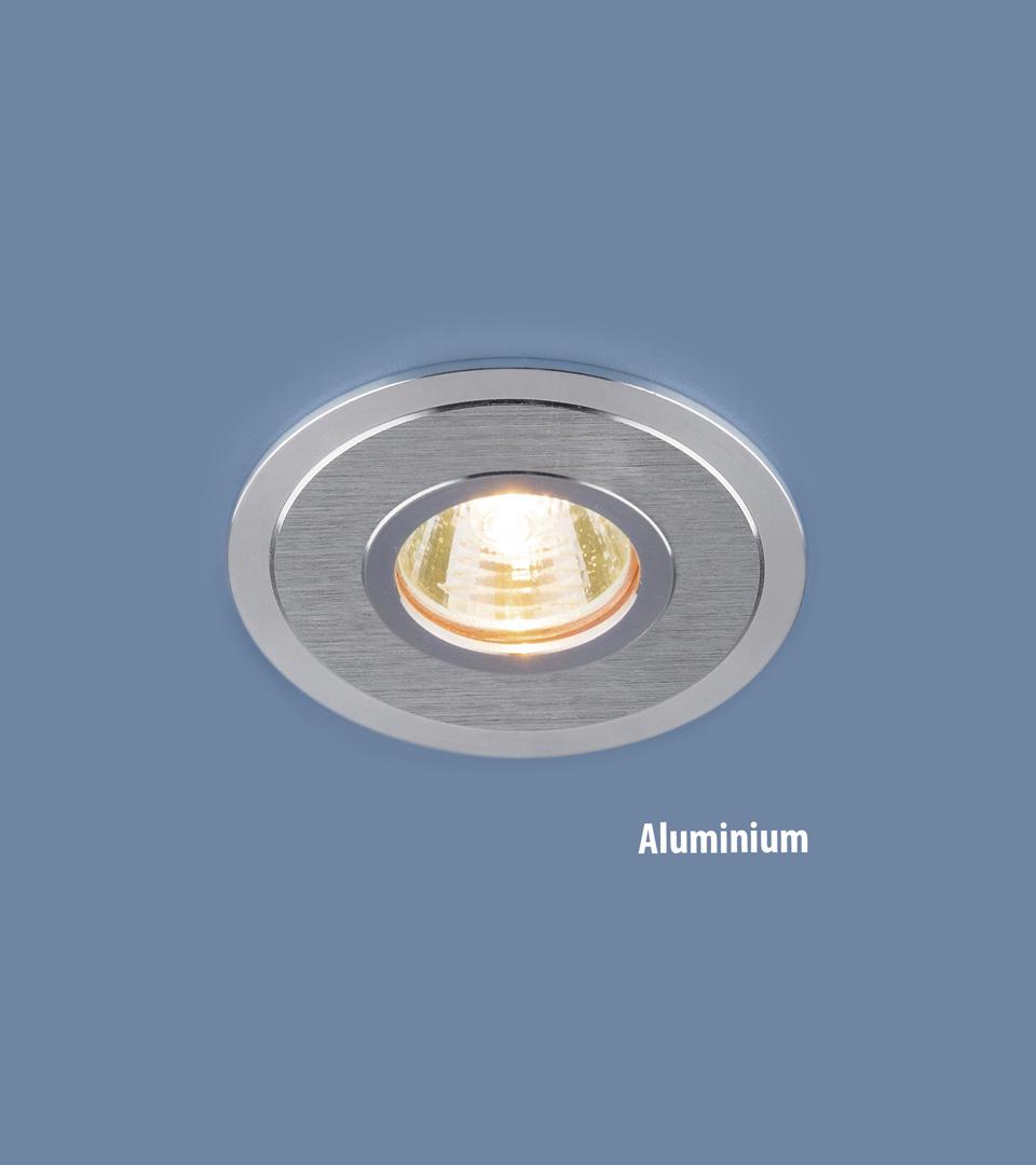 Алюминиевый точечный светильник 2016 MR16 SCH сатин хром 1