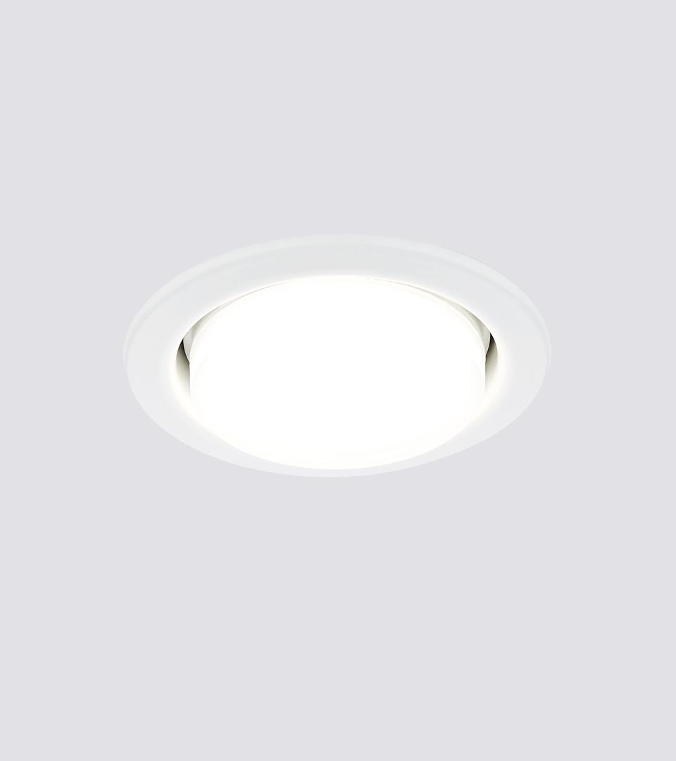 Ecola GX53 H4-GL светильник встраиваемый глубокий Белый 48 x 106 1