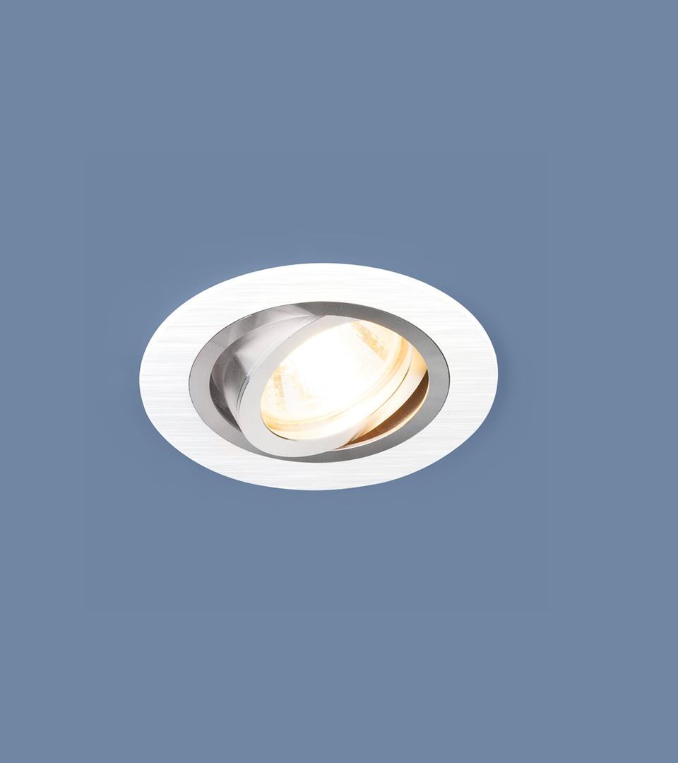 Алюминиевый точечный светильник 1061/1 MR16 WH белый 1