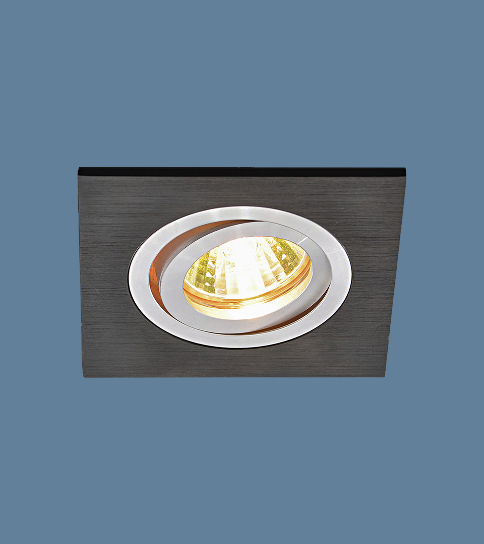 Точечный светильник из алюминия 1051/1 BK черный 1