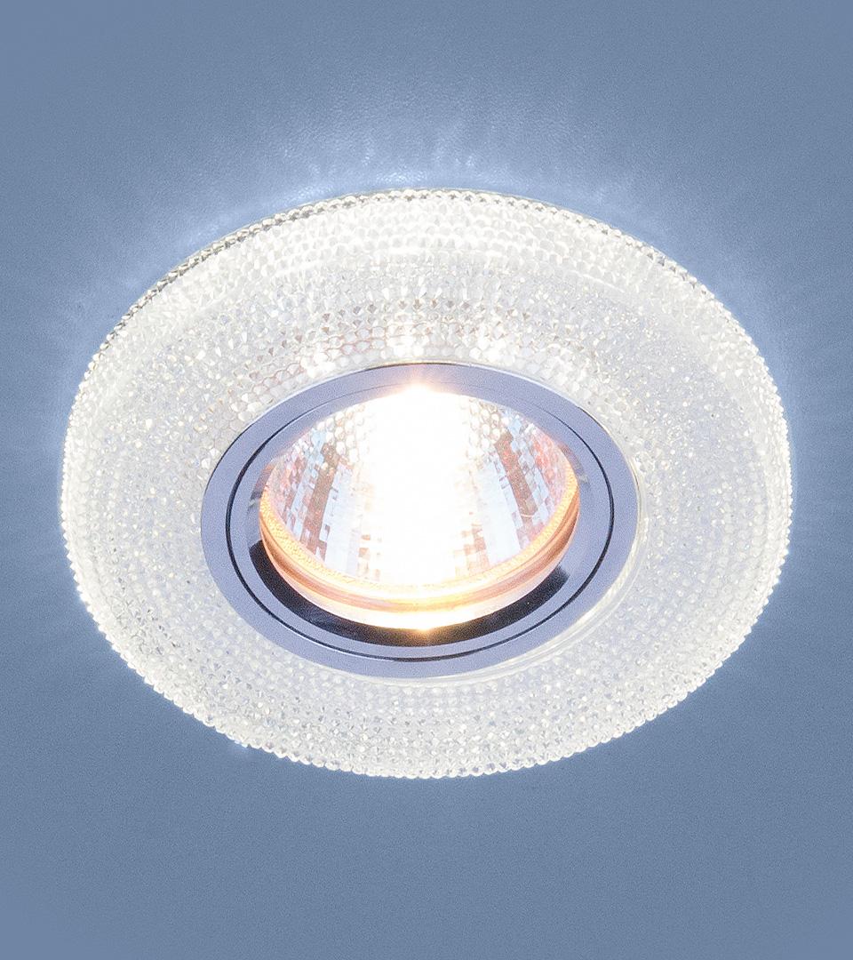 Точечный св с LED подсветкой 2130 MR16 CL прозрачный светильник 1