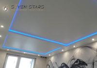 Двухуровневый потолок с подсветкой 21.5 м2 19