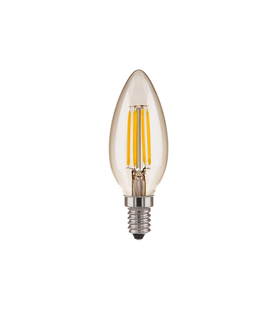 """Филаментная светодиодная лампа """"Свеча"""" C35 7W 4200K E14 1"""