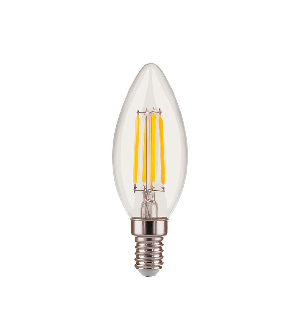"""Филаментная светодиодная лампа """"Свеча"""" C35 5W 4200K E14 1"""
