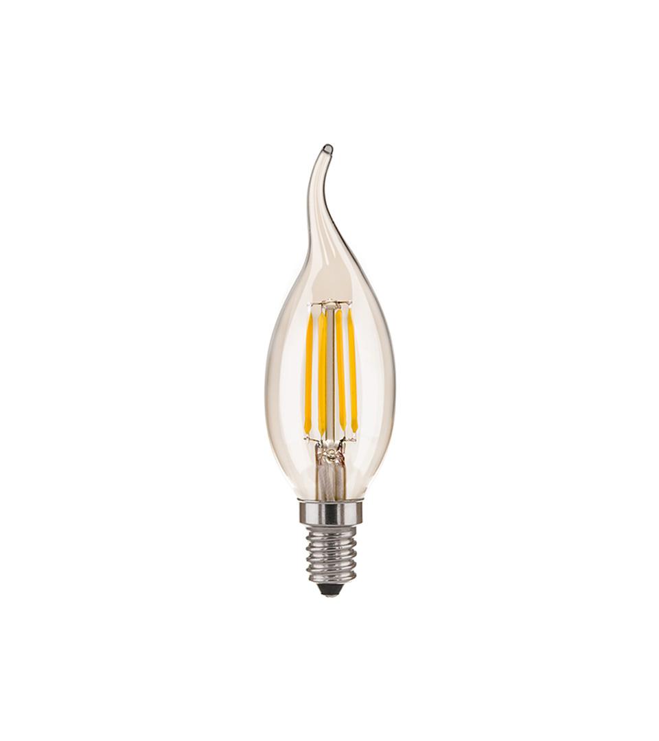 """Филаментная светодиодная лампа """"Свеча на ветру"""" CA35 7W 3300K E14 1"""
