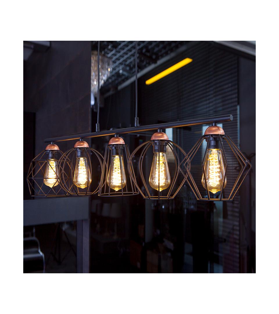 Филаментная светодиодная лампа ST64 8W 3300K E27 2