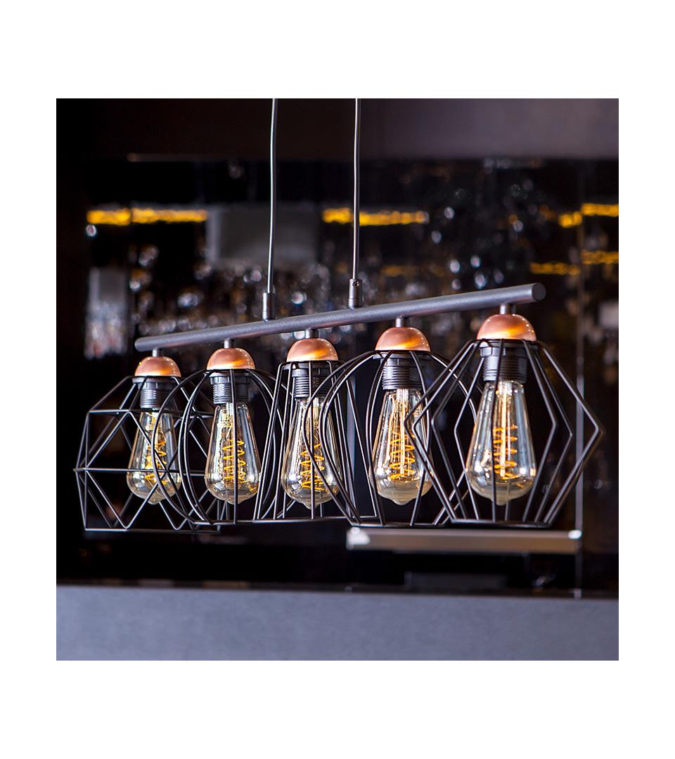 Филаментная светодиодная лампа ST64 8W 3300K E27 3