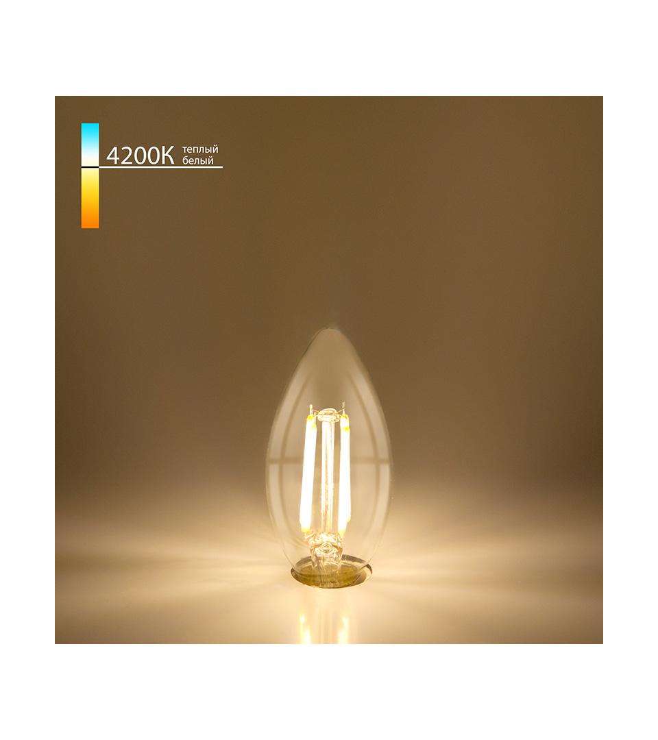 """Филаментная светодиодная лампа """"Свеча"""" C35 7W 4200K E14 2"""