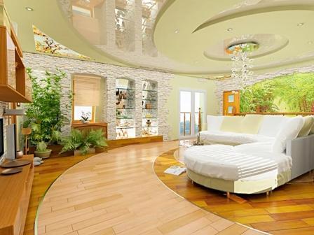 Натяжные потолки в современных стилях 16