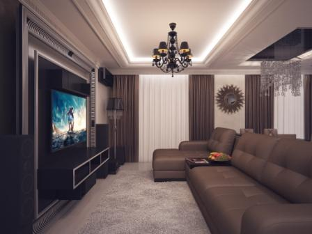 Натяжные потолки в современных стилях 5