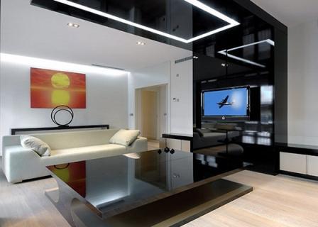Натяжные потолки в современных стилях 10