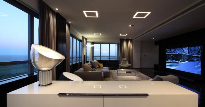 Натяжные потолки в современных стилях 9