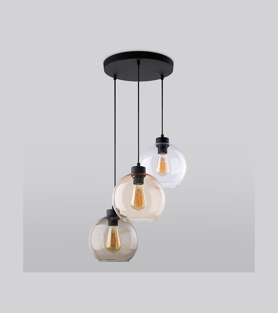 Подвесной светильник со стеклянными плафонами 2613 Cubus 1