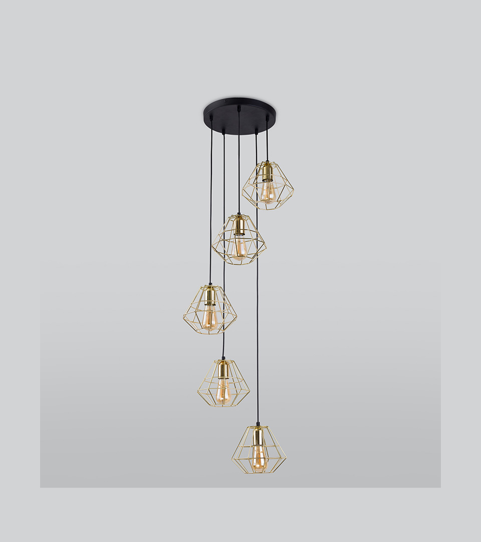 Подвесной светильник 2576 Diamond Gold 2