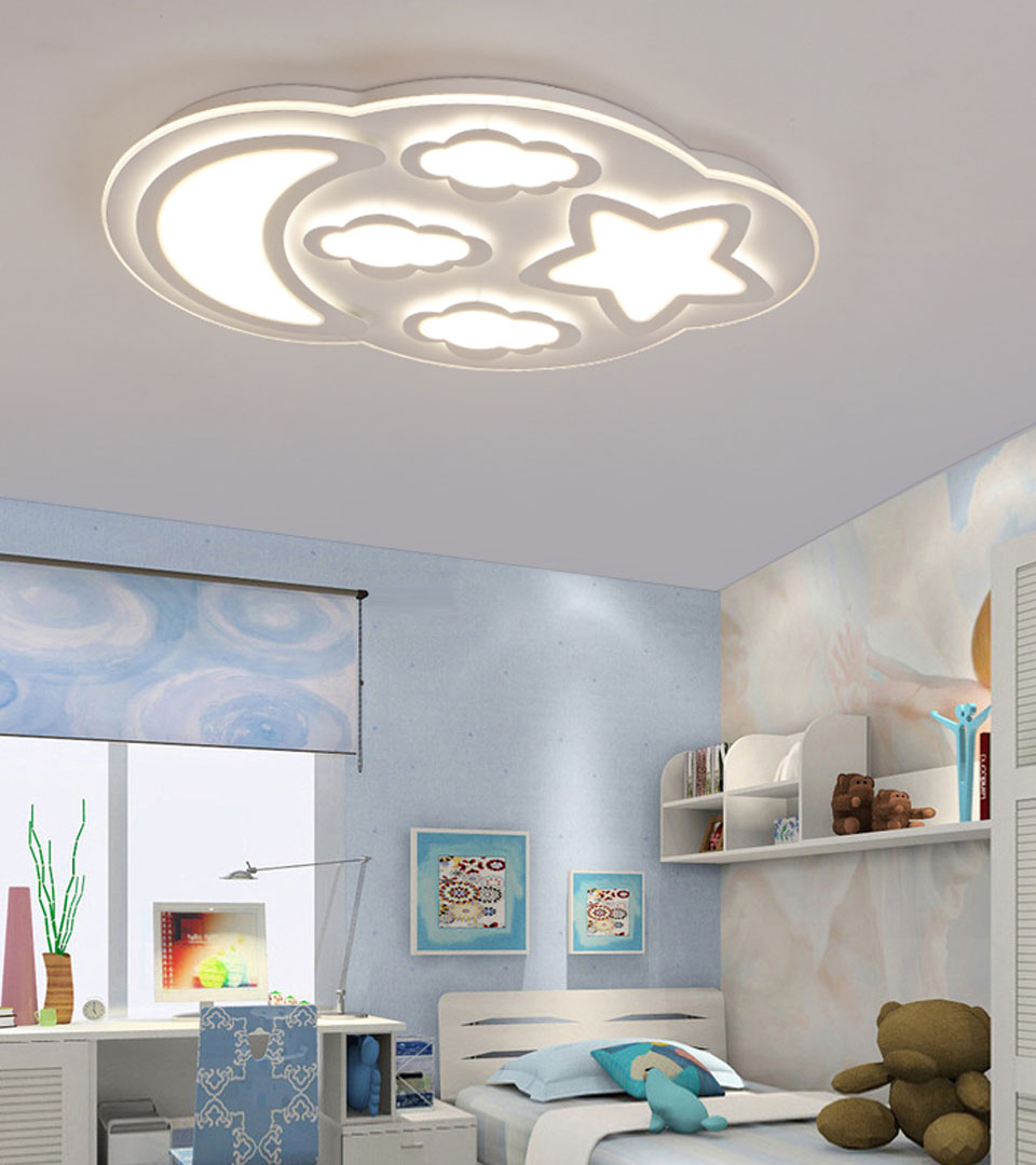 Сатиновый натяжной потолок в детской 15 м2 1