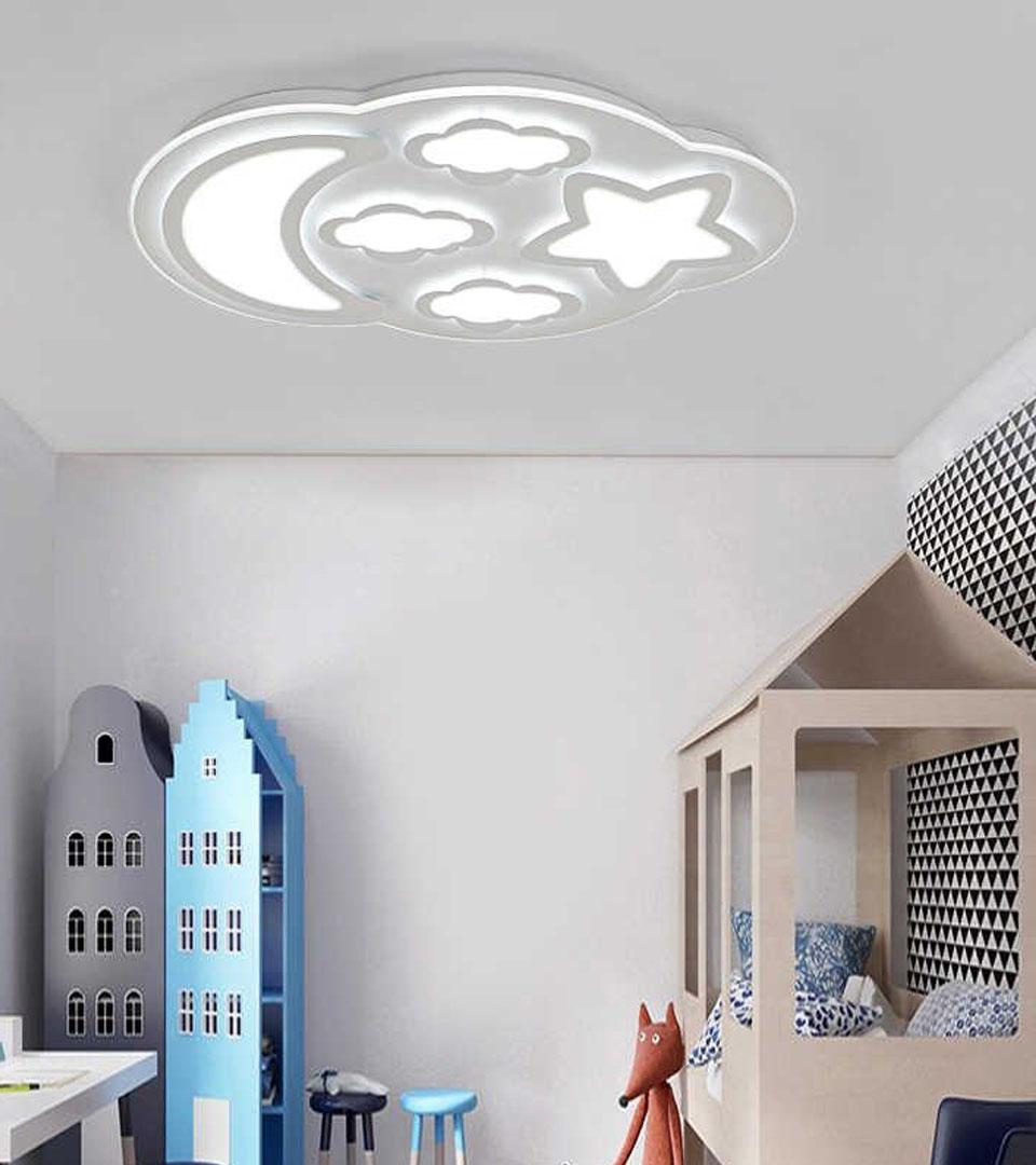 Сатиновый натяжной потолок в детской 15 м2 3