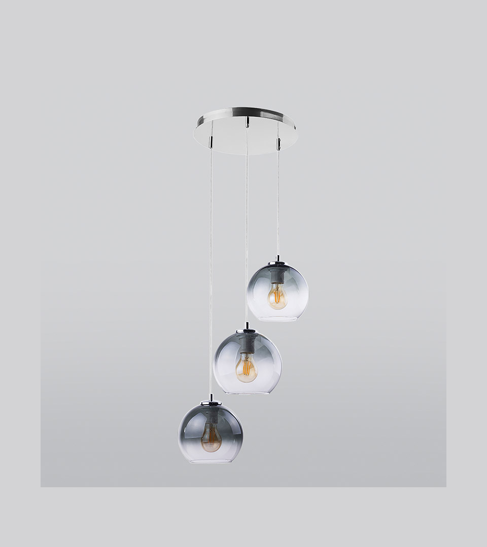 Подвесной светильник с круглыми стеклянными плафонами 2611 Santino 1