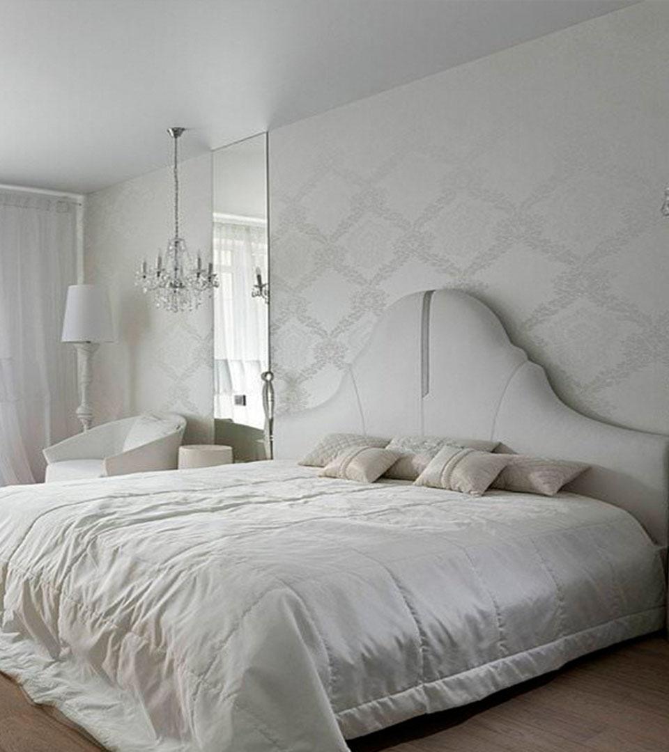 Матовый потолок в спальной по акции 16 м2 1