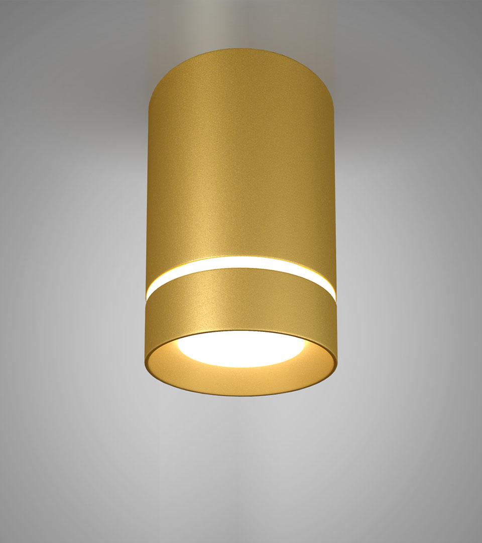 Потолочный светодиодный светильник DLR021 9W 2