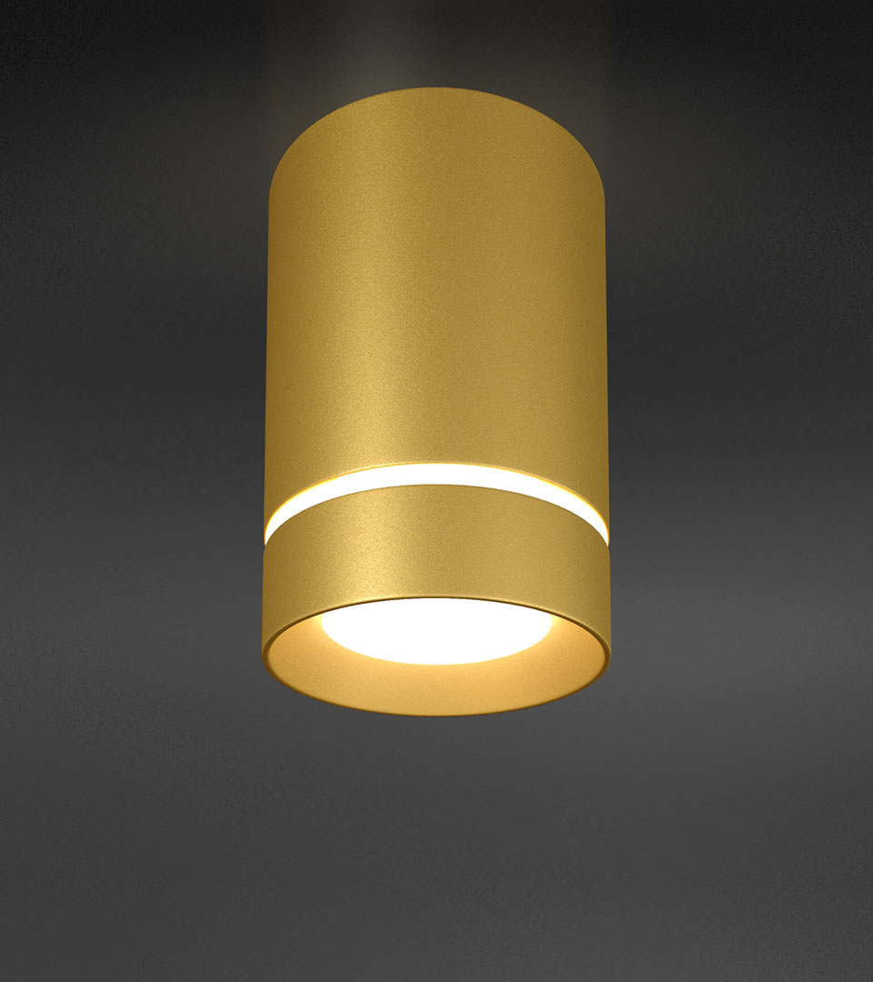 Потолочный светодиодный светильник DLR021 9W 1