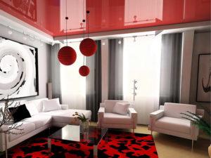 Натяжные потолки в стиле авангард 5