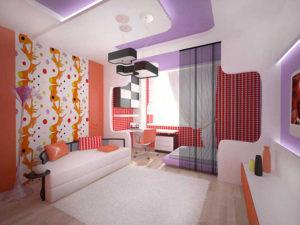 Натяжные потолки в стиле авангард 3