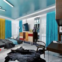 Натяжные потолки в стиле авангард 1