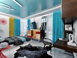 Натяжные потолки в стиле авангард 9