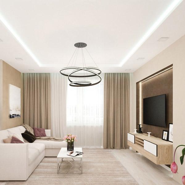 Цены двухуровневых потолков с подсветкой 2