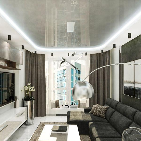 Цены двухуровневых потолков с подсветкой 3