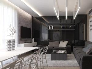 Натяжные потолки в стиле модерн 3